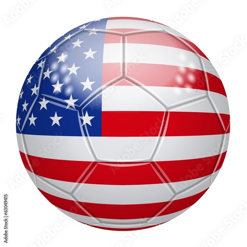 Soccer ball at the colors of The United States