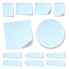 Light Blue Stick Notes Collection Round