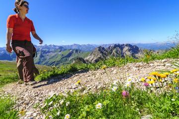 Traumtag zum Wandern im Gebirge