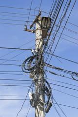 Overloaded street pole