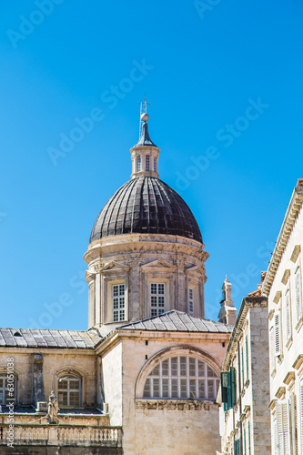 Dubrovnik Dome Under Blue Sky