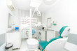 dental clinic interior design with working tools and professiona