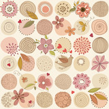 Romantic Seamless Pattern