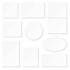 White Stamps Set