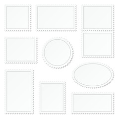 Blank White Stamps Set Border