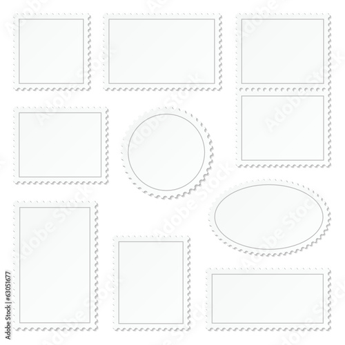 Blank White Stamps Set Border