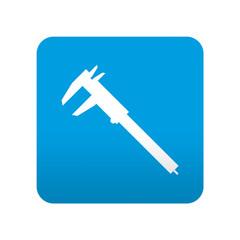 Etiqueta tipo app azul simbolo calibre