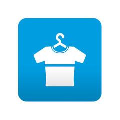 Etiqueta tipo app azul simbolo camiseta