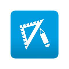 Etiqueta tipo app azul simbolo dibujo tecnico