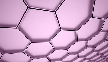 Purple hexagons cell