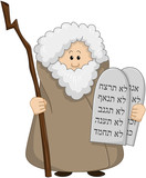 Moses Holding The Ten Commandments poster