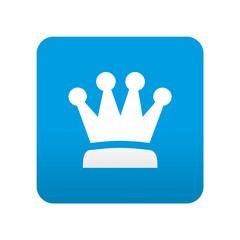 Etiqueta tipo app azul simbolo corona