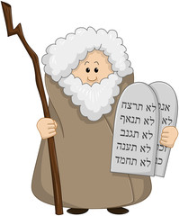 Moses Holding The Ten Commandments