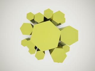 Green hexagonal icon background