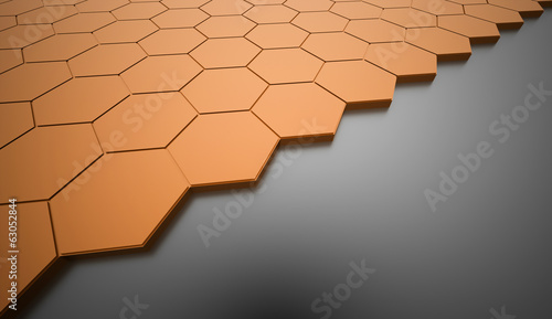 Abstract orange background rendered
