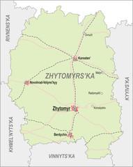Map of Zhytomir Oblast
