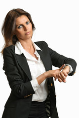 Manager woman angry for lateness