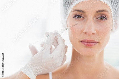 Beautiful woman having botox injection