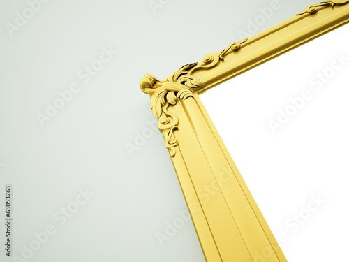 Gold mirror frame