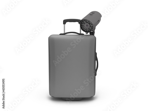 Travel luggage and video surveillance cam