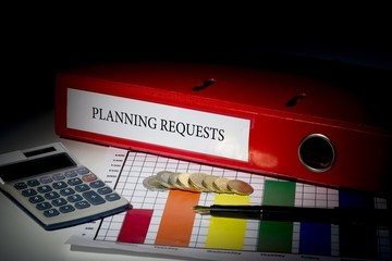 Planning requests on red business binder