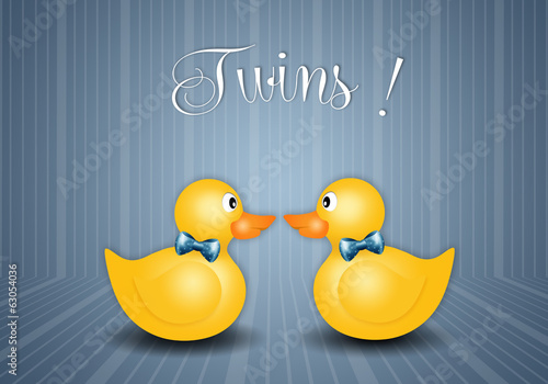 duck toy for twin boys