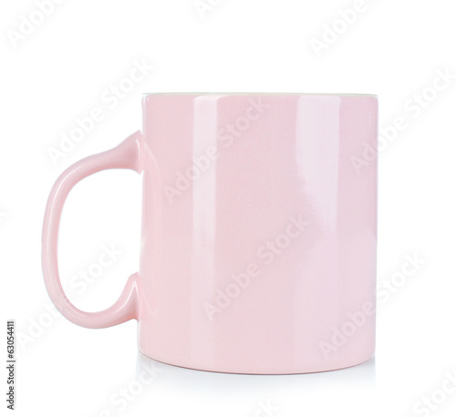 Empty mug isolated on white