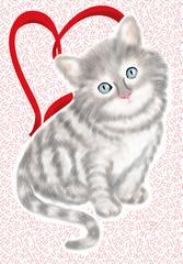 gatto innamorato