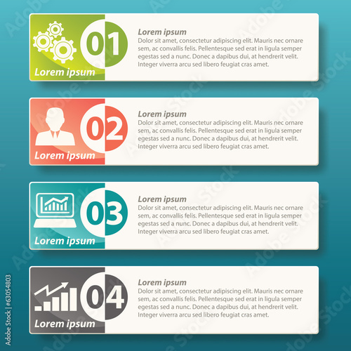 Infographic four label template design