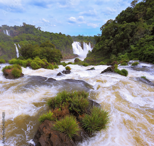 Fantastically  waterfalls of Iguazu