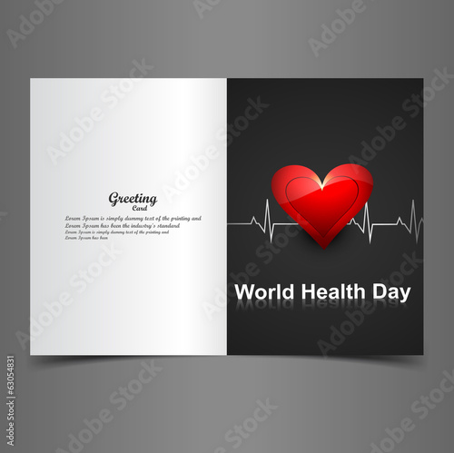 Beautiful greeting card World health day colorful design vector