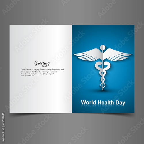 Medical background with Caduceus medical symbol presentation wor