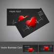 Beautiful medical business card or visiting card colorful vector