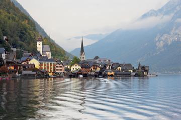 Hallstatt.  The picture was taken on board a pleasure boat