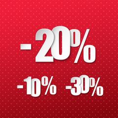 Vector paper discount percents