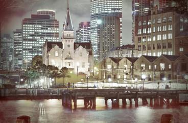 """The Rocks"", Sydney, Australia: Harbour  Vintage Style"