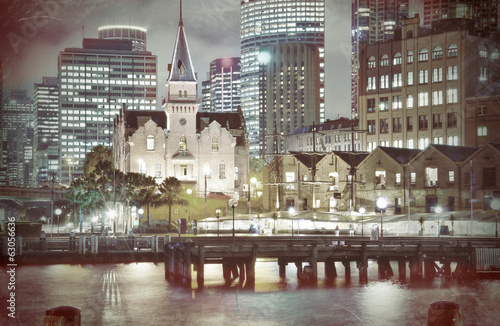 """The Rocks"", Sydney, Australia: Harbour  Vintage Style"