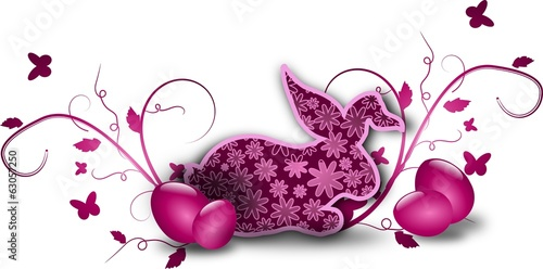 Pink rabbit easter decoration