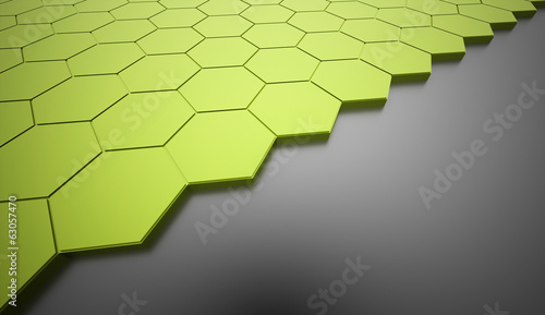 Green hexagonal business