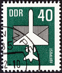 Aircraft and Envelope (German Democratic Republic 1982)