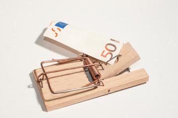 Mausefalle mit 50-Euro-Schein