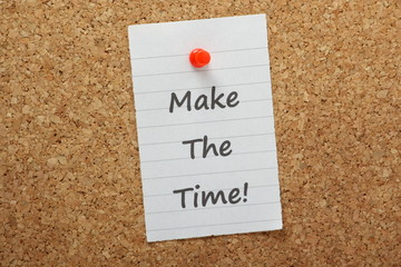 Make The Time on a cork notice board