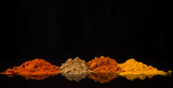 Fototapety Mix powdered spices background