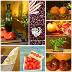 Collage healthy eating