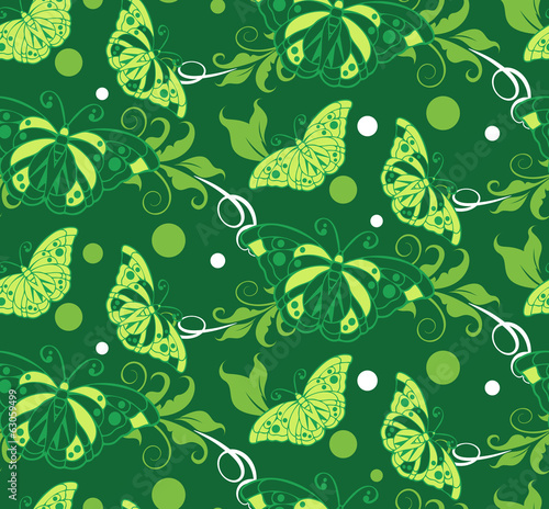 green background spring. floral