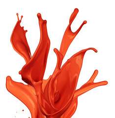 Isolated shot of paint splashing