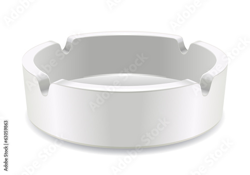 Isolated ashtray on white background.