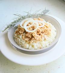 entrée thon,riz ,fraîche