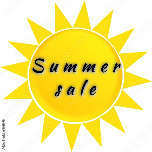 Inscription Summer sale on the sun