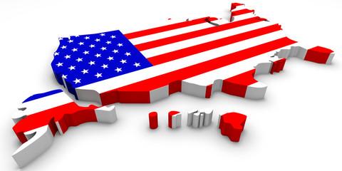 Stati Uniti tridimensionale